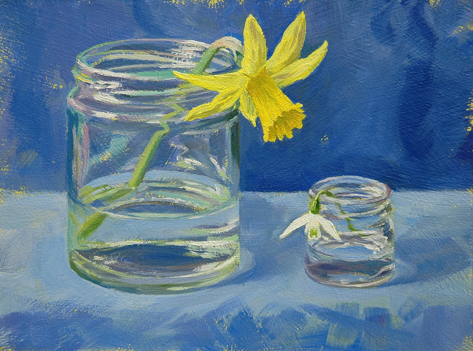 Peter barker 39 s palette march 2011 for How to paint glass with oil paint