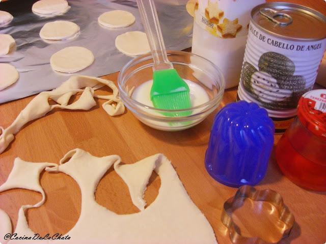 Ingredientes para los pasteles de hojaldre