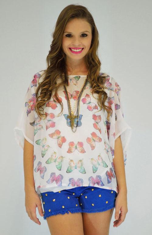 Inspiração borboletas - blusinha