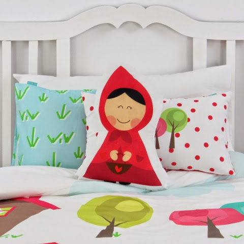 Mr Fox Grandma Bedding - little red riding hood cushion
