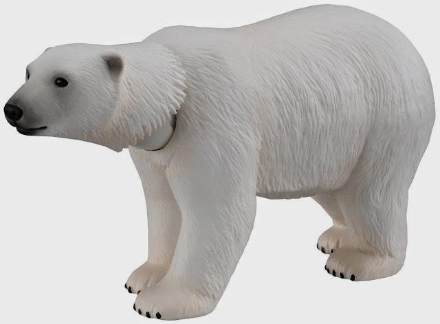 Hình ảnh sinh động chủa chú Gấu trắng AS-10, đặc biệt có thể xoay khớp cổ để cử động chiếc đầu