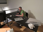 Larry's big black...desk