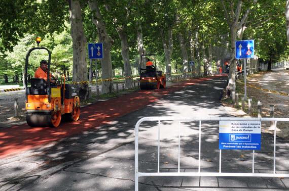 Cambios en el anillo ciclista a su paso por la Casa de Campo