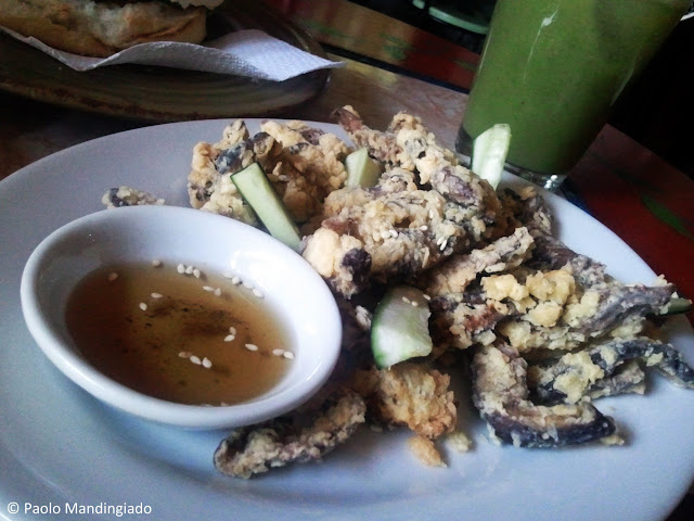 Image of fried shitake mushrooms served at Likha Diwa