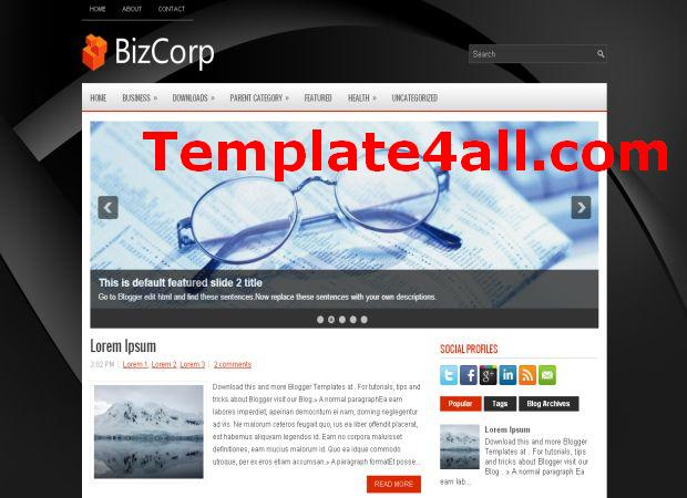 Blacky Pro Business Blogger Template