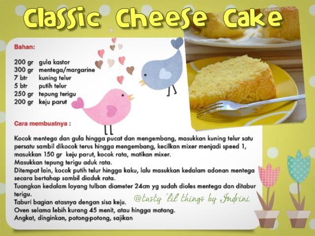 Resep Classic Cheese Cake Fatmah Bahalwan