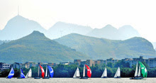 J/80s sailing China river regatta