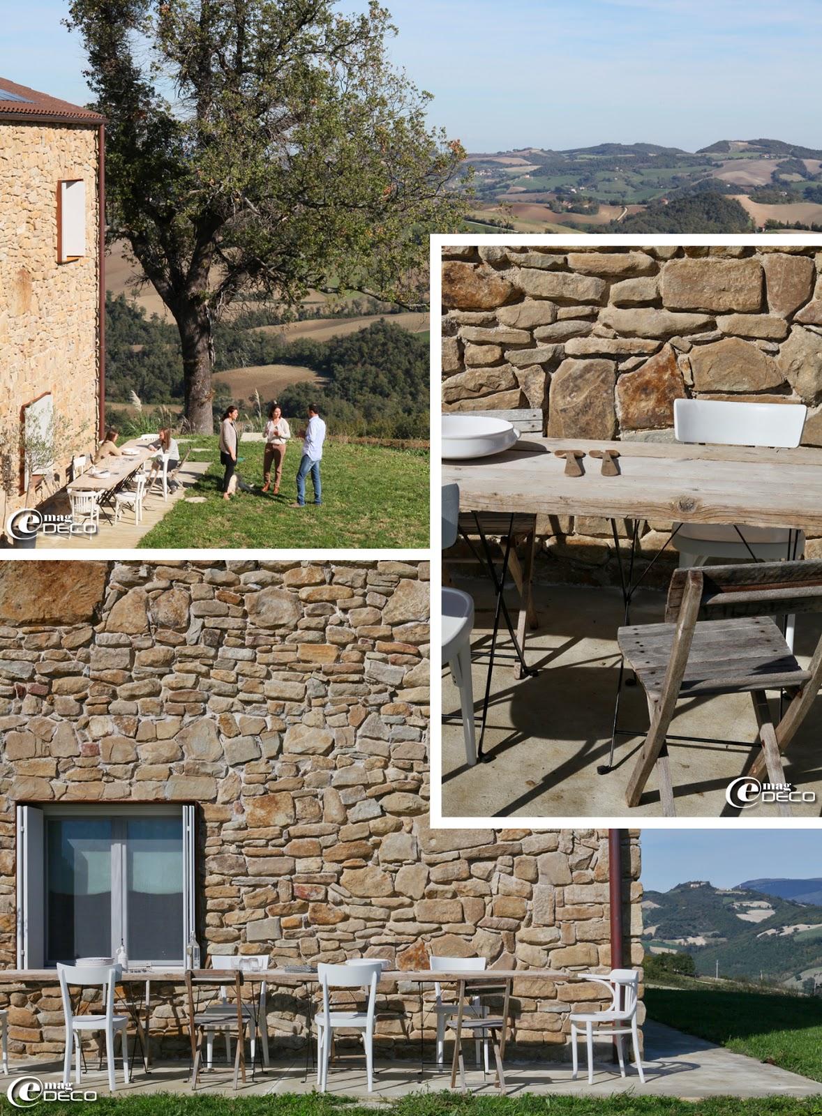 Les extérieurs de la maison d'hôtes 'Malatesta' près de Pergola en Italie