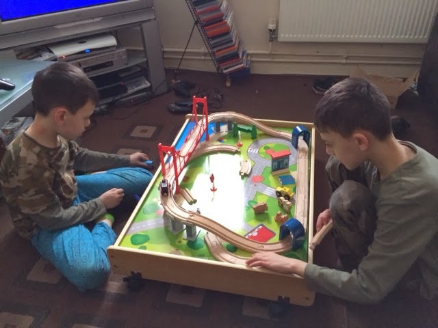 We Love This Awesome Wooden Train Table Its Bright And Colourful And Offers  Endless Fun, This Wooden Train Table Can Be Purchased From Asda Direct.