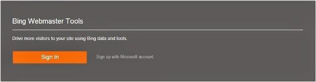 cara membuat akun Bing webmaster tools