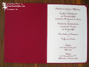 stampin up menu wedding hochzeit