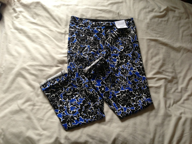 Topshop Blue Dandy High Waisted Trousers