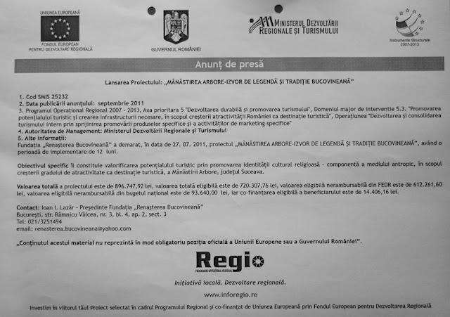 Bucovinism stupid, finanţat de UE cu 200.000 de euro