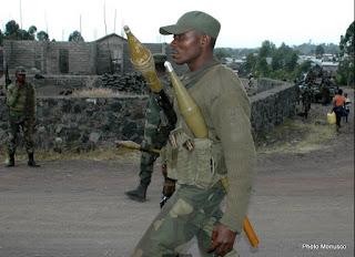Des militaires congolais en patrouille à Goma (Photo Monusco)