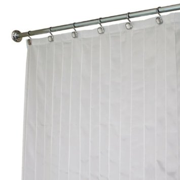 108 Extra Wide White Pin Tuck Clic Fabric Shower Curtain By Interdesign