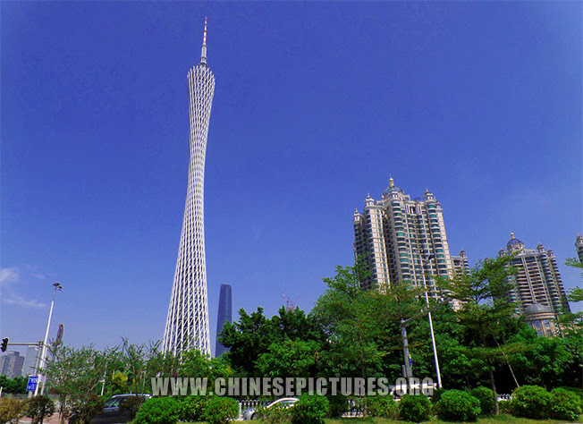 Canton Tower & nearby Buildings Photo 2013