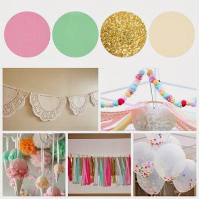 confetti balloon tissue paper tassel garland yarn pom doily