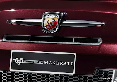 Abarth 695 Maserati Edition Plate