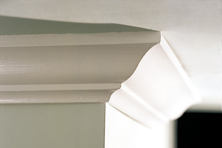 Chic style modern february 2011 for Standard crown molding size