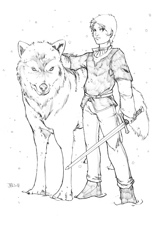 Arya Stark coloring pages