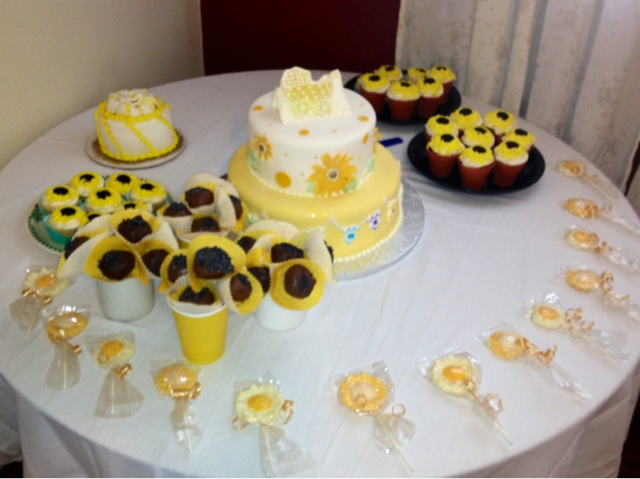 klicious cupcakes order up sunflower baby shower