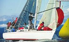 J/29 sailing Seattle's Puget Sound