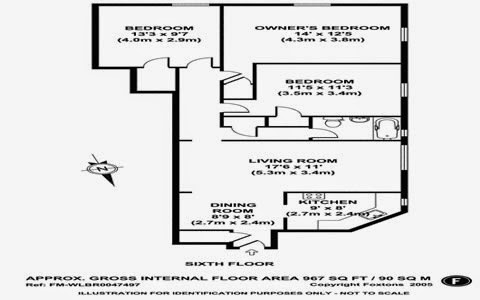 parkchester apartment and condominium three bedroom floor plan