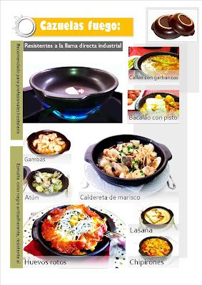 CAZUELAS REFRACTARIAS RESISTENTES A LA LLAMA DIRECTA PARA COCINA TRADICIONAL. www.vulcanogres.com