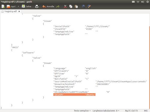 Skin Ubuntu in Steam per Linux - impostazione
