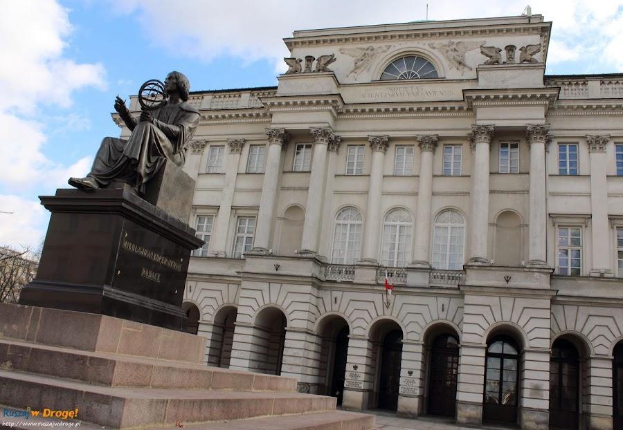 pomnik Mikołaja Kopernika w Warszawie