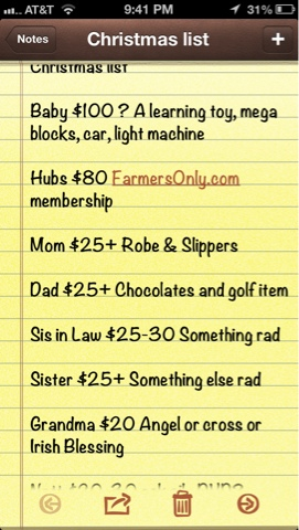 Be prepared with a detailed Christmas shopping list