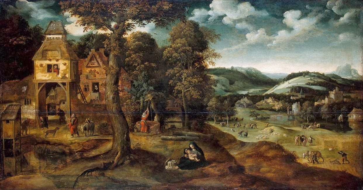 Joachim Patinir - Landscape with the Flight into Egypt