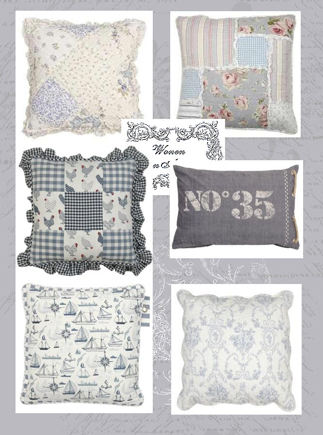 Shabby chic con amore casa shabby chic cuscini shabby for Cuscini country chic