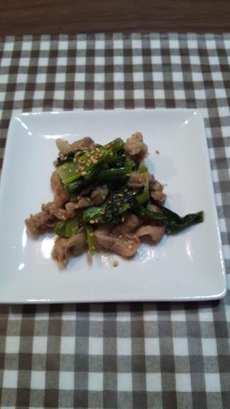 小松菜のうまみそ炒め