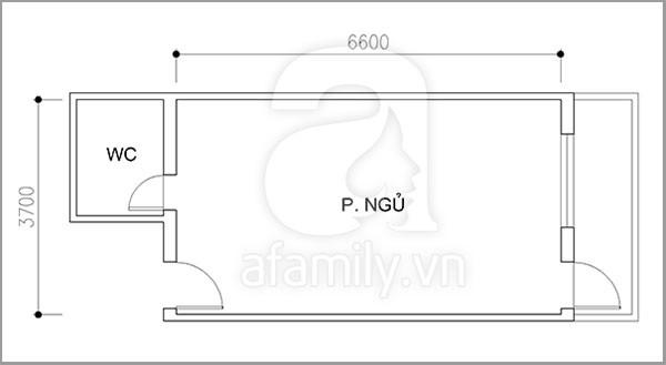 Phương án cải tạo cho phòng ngủ 24 m2 đa chức năng