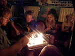 Then we had a little birthday celebration for Aden's 40th in the airstream
