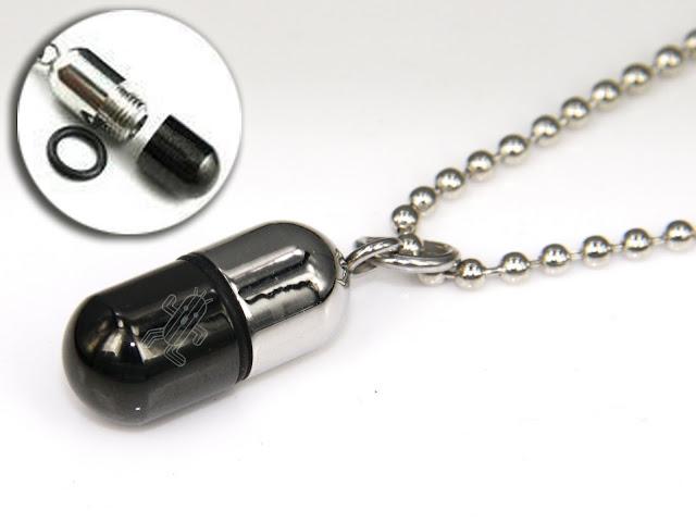 Final Fantasy CACTUAR Stainless Steel Pill Pendant Necklace