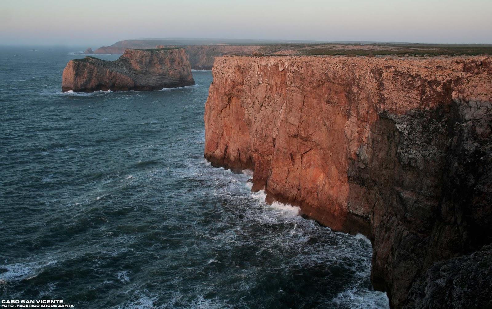 Regi n fronteriza acantilados cabo san vicente portugal - Cabo san vicente portugal ...