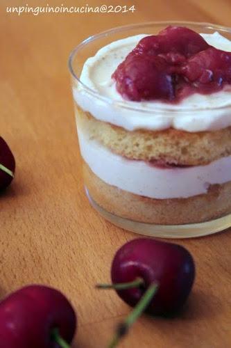 bicchierini vaniglia e ciliegie al balsamico