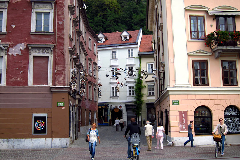 downtown Ljubljana