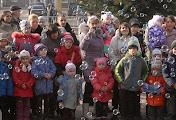 После открытия главной елки Ленинского района детвору позвали в зоопарк
