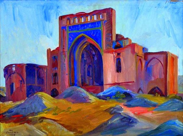 Martiros Saryan - Landscape. Turkmenistan., 1934