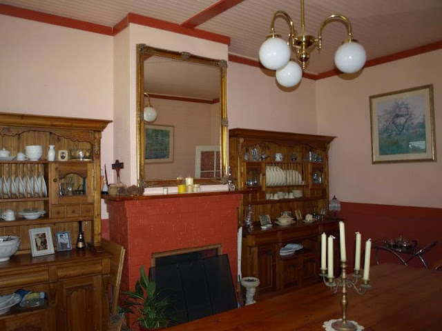 Federation Dining Room with crockery display sideboards, Room at 242 Chetwynde Junction Road Casterton