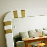 Gold Striped Mirror