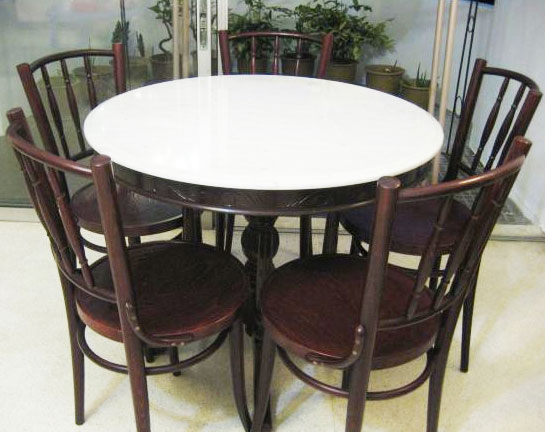 kopitiam dining set marble table with 5 chairs 600