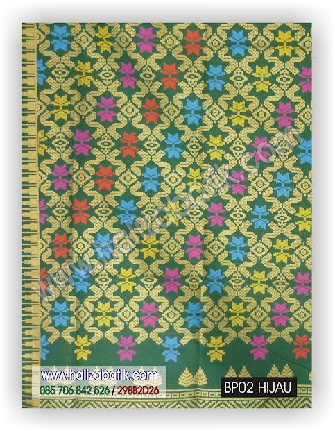 Baju Batik Seragam, Baju Grosir, Model Kain Batik, BP02 HIJAU
