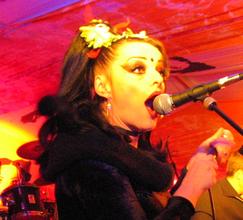 Nina Hagen impersonating a grown-up.