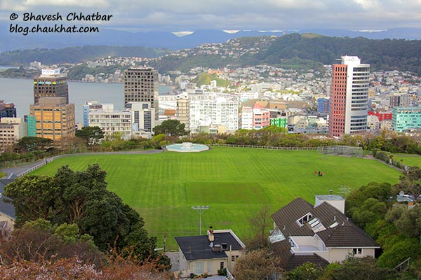 Kelburn Park Ground - view from the Kelburn station of Wellington Cable Car