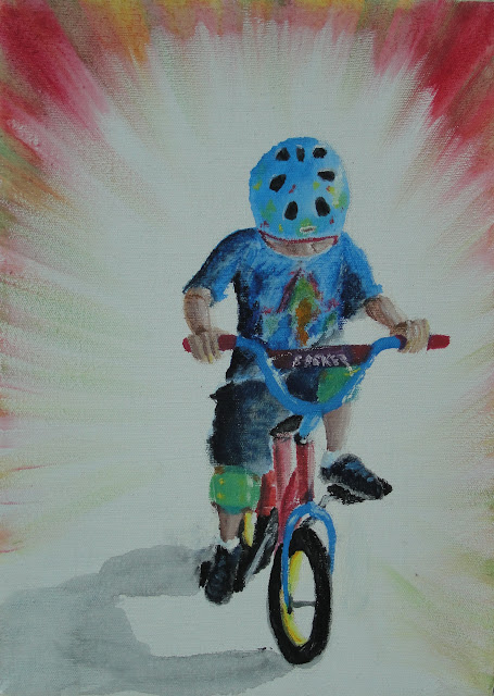 First Bike - Original Painting