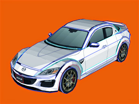 Mazda RX8 Spirit R Papercraft